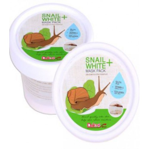 Daiso Улиточная маска для лица Snail White+ Mask Pack с коллагеном