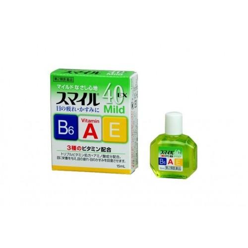 Японские капли для глаз от усталости Lion Smile 40 EX Mild с мягким охлажда