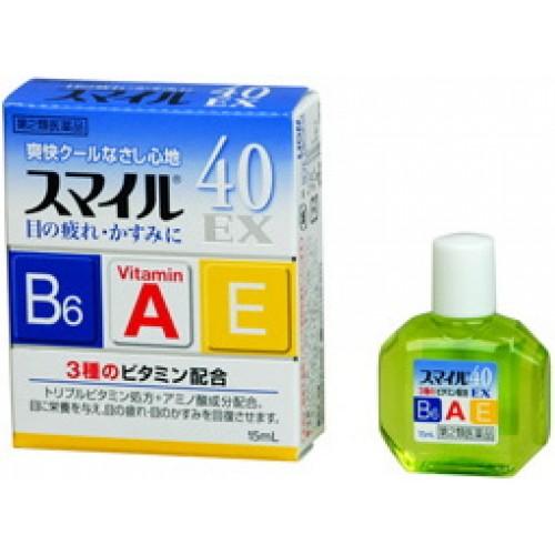 Японские капли для глаз от усталости Lion Smile 40 EX с сильным охлаждающим